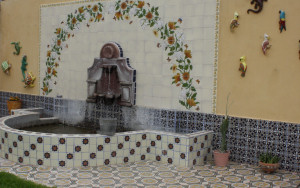 mexican tile in outdoors fountains